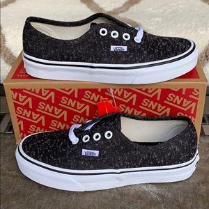 VANS AUTHENTIC MARLED CANVAS BLACK/TRUE WHITE WMNS